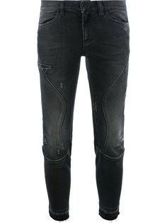 байкерские джинсы с потертостями Faith Connexion