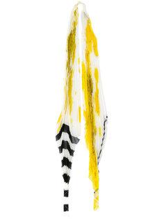Orion stripe pleated scarf Haider Ackermann