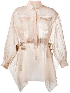 прозрачная рубашка с длинными рукавами Fendi