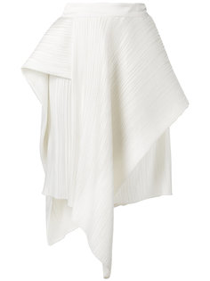 asymmetric pleated skirt Christian Wijnants