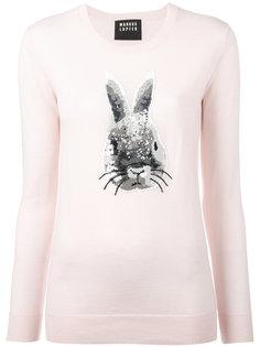 джемпер с принтом кролика из пайеток Markus Lupfer