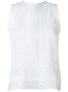 прозрачная блузка без рукавов Ermanno Scervino