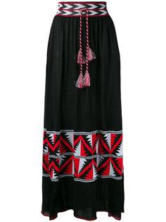 длинная юбка с этническим узором Laneus