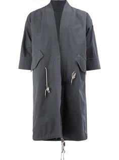 cropped sleeves coat  Wooster + Lardini