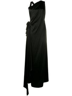 sleeveless side slit dress Osman