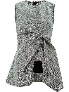 блузка с баской и принтом Limestone Marni