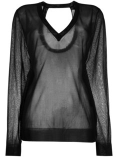 sheer v-neck sweater Christian Wijnants
