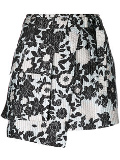 asymmetric floral print skirt Christian Wijnants