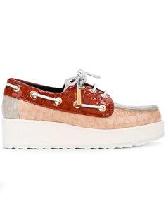 туфли со шнуровкой и эффектом крокодиловой кожи Pierre Hardy