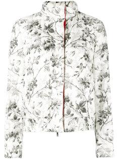 дутая куртка с растительным принтом Moncler Gamme Rouge