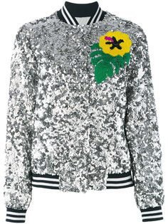sequinned bomber jacket Mira Mikati