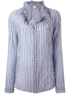 striped frill collar blouse Ys Y`s
