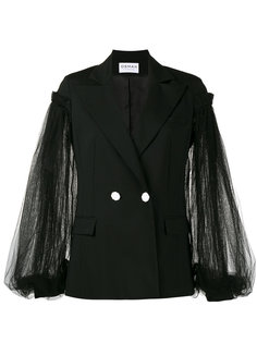 lace sleeve double breasted blazer Osman