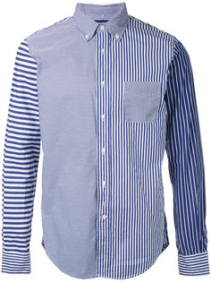 patchwork striped shirt  Wooster + Lardini
