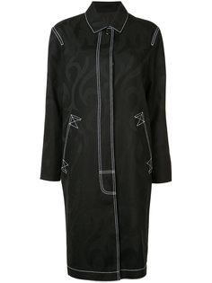 пальто с контрастными стежками Alexander Wang