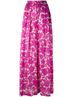 floral-print wide-leg trousers Christian Wijnants