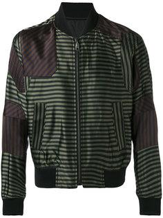 полосатая куртка-бомбер Wooyoungmi