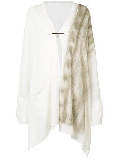 hand-painted draped knit cardigan/scarf Isabel Benenato