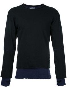 stripe detail longsleeve sweater Facetasm
