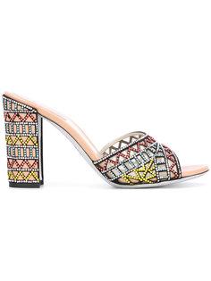 embroidered sandals René Caovilla