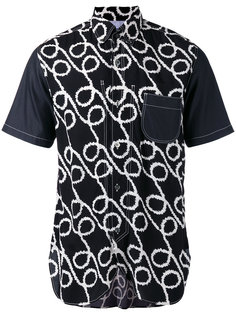 рубашка с узором и закругленным подолом Junya Watanabe Comme Des Garçons Man