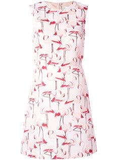 платье шифт с принтом фламинго Red Valentino