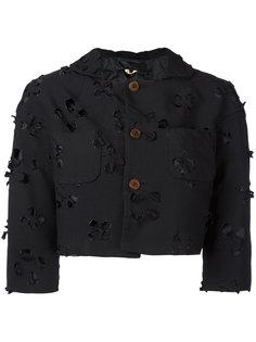 cut-out detail cropped jacket Comme Des Garçons Comme Des Garçons