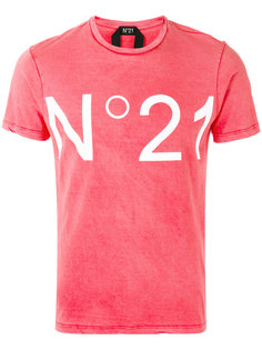 logo print T-shirt Nº21