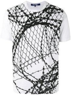 футболка с принтом проволоки Junya Watanabe Comme Des Garçons Man