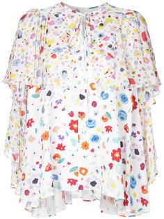 floral print chiffon ruffled blouse G.V.G.V.
