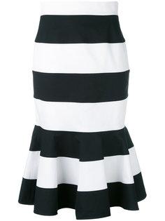 полосатая юбка с баской Dolce & Gabbana