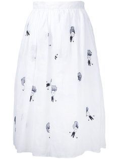 embroidered skirt  Jupe By Jackie