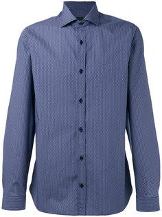 рубашка с узором из мелких точек Z Zegna