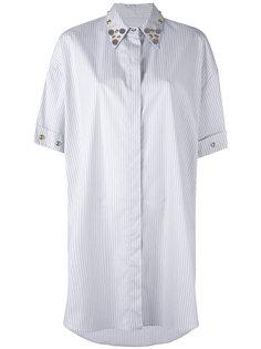 платье-рубашка с металлической отделкой Mm6 Maison Margiela