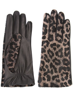 leopard gloves Perrin Paris