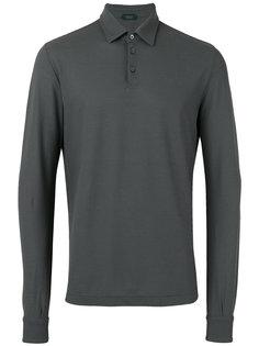 рубашка-поло с длинными рукавами Zanone