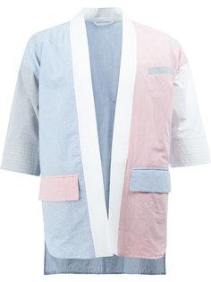пиджак с глубоким V-образным вырезом Wooster + Lardini