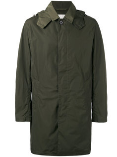 single breasted hooded coat Mackintosh