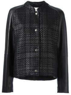 куртка-бомбер с узором в клетку   Lanvin