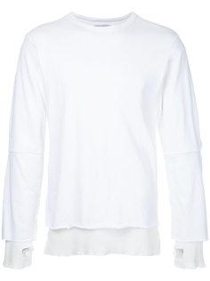 elbow slit sweater Facetasm