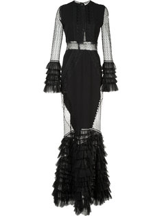 ruffled sheer dress Jonathan Simkhai