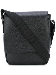 сумка-мессенджер с фактурной выделкой Salvatore Ferragamo