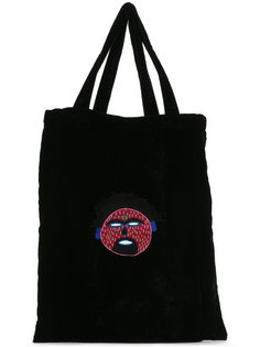 embroidered shopper tote  Jupe By Jackie