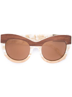 солнцезащитные очки в оправе кошачий глаз Linda Farrow