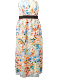 floral print strapless dress Si-Jay