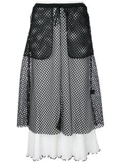 mesh layered ribbed skirt G.V.G.V.