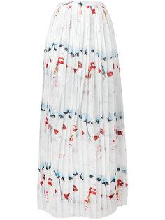 face print pleated skirt  Jeremy Scott
