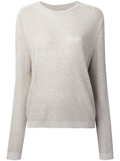 metallic longsleeve knit sweater Laneus