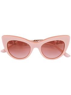 очки с цветочным декором Dolce & Gabbana