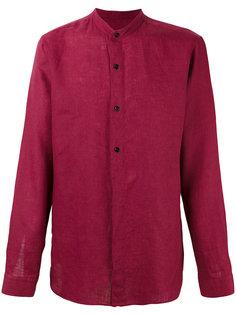 рубашка с узким воротником-стойкой Z Zegna